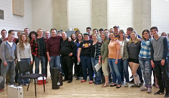 Southern Utah University jazz band with Roger Ingram